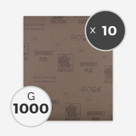 Papier à poncer à eau - grain 1000 (10 feuilles), INDASA