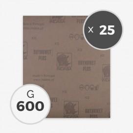 PAPEL DE LIJA AL AGUA - GRANO 600 (25 HOJAS)