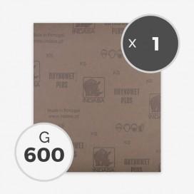 Papier à poncer à eau - grain 600 (1 feuille), INDASA
