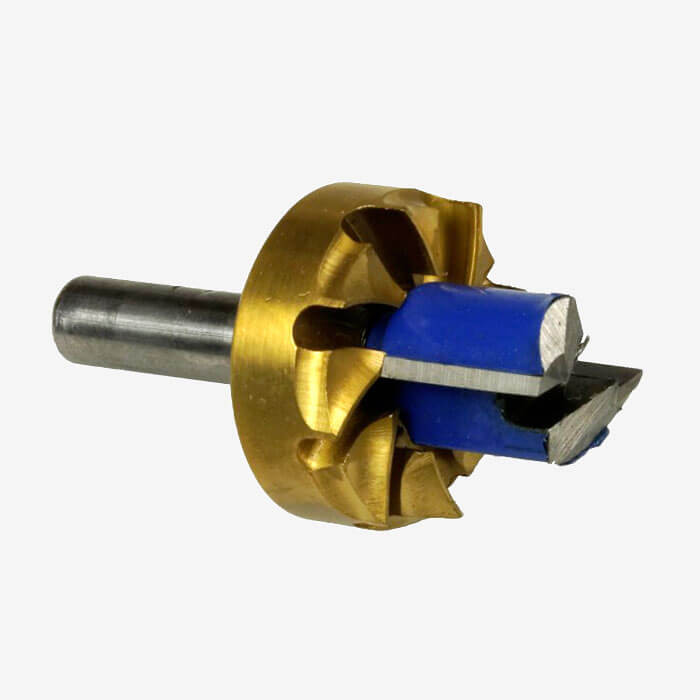 One-pass Router Bit for Futures leash plug installation