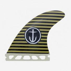 "Dérives Thruster Single Tab - Captain Black / Army Stripes 4.38"", CAPTAIN FIN CO"