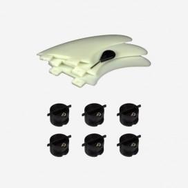 Dérives thruster + 6 inserts-plugs pour dérives