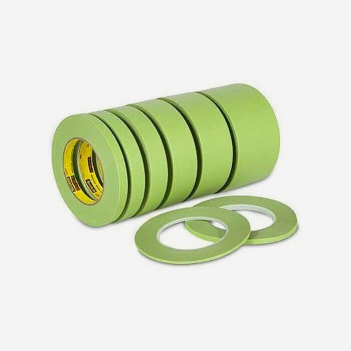 3m performance masking green tape 233 largeur 1 4 6mm viral surf. Black Bedroom Furniture Sets. Home Design Ideas