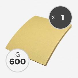 Abrasif sur mousse en feuille de 115 x 125mm - grain 600 - ponçage à l'eau