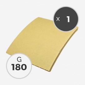 Abrasif sur mousse en feuille de 115 x 125mm - grain 180 - ponçage à sec