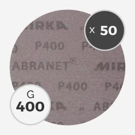 Boite de 50 disques abrasifs Abranet diamètre 200mm - grain 400, MIRKA