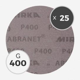 25 disques abrasifs Abranet diamètre 200mm - grain 400, MIRKA