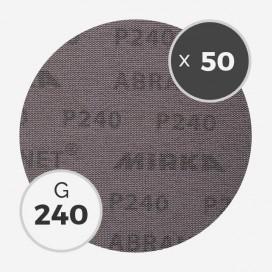 Boite de 50 disques abrasifs Abranet diamètre 200mm - grain 240, MIRKA
