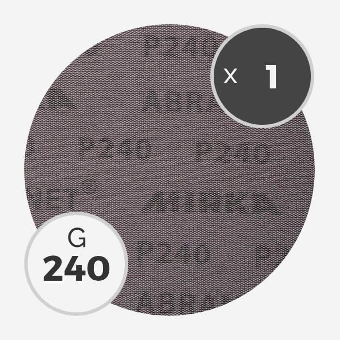 Disque abrasif Abranet diamètre 200mm - grain 240, MIRKA
