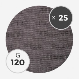 25 disques abrasifs Abranet diamètre 200mm - grain 120, MIRKA