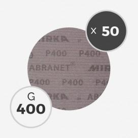 Boite de 50 disques abrasifs Abranet diamètre 150mm - grain 400, MIRKA