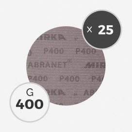 25 disques abrasifs Abranet diamètre 150mm - grain 400, MIRKA