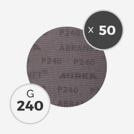 Boite de 50 disques abrasifs Abranet diamètre 150mm - grain 240, MIRKA