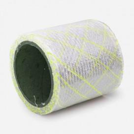 Bande de renfort en fibre de verre quadriaxiale, fils Polyflex jaunes, largeur 100mm