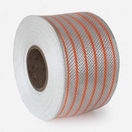 Bande de renfort hybride fibre de verre et PolyFlex neon orange, largeur 80mm