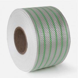 Bande de renfort hybride fibre de verre et PolyFlex neon vert, largeur 80mm