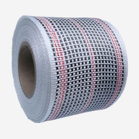 Bande de renfort hybride fibre de verre et carbone - fils rouges, largeur 80mm