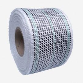 Bande de renfort hybride fibre de verre et carbone - fils verts, largeur 80mm