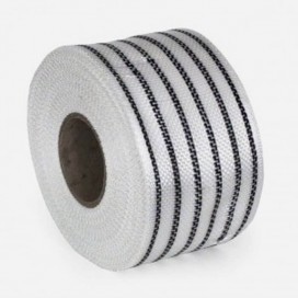 Bande de renfort hybride fibre de verre et Innegra noir, largeur 80mm