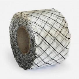 Bande de renfort hybride fibre de verre et carbone quadri axiale, largeur 100mm