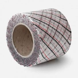 Bande de renfort en fibre de verre quadriaxiale, fils rouges / rouges, largeur 100mm