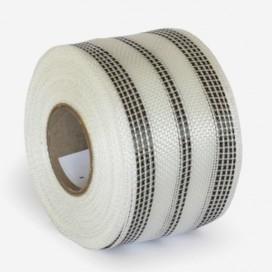 Bande de renfort hybride fibre de verre et carbone (10 fils), largeur 80mm