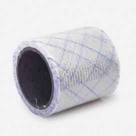 Bande de renfort en fibre de verre quadriaxiale, fils Polyflex bleus, largeur 100mm