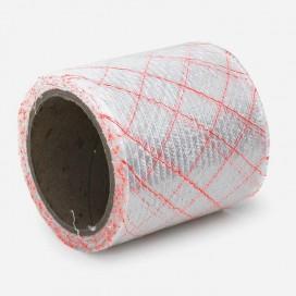 Bande de renfort en fibre de verre quadriaxiale, fils rouges, largeur 100mm