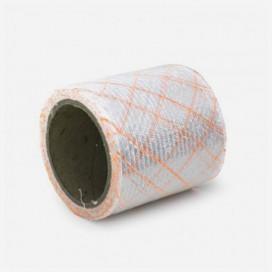 Bande de renfort en fibre de verre quadriaxiale, fils Polyflex oranges, largeur 100mm