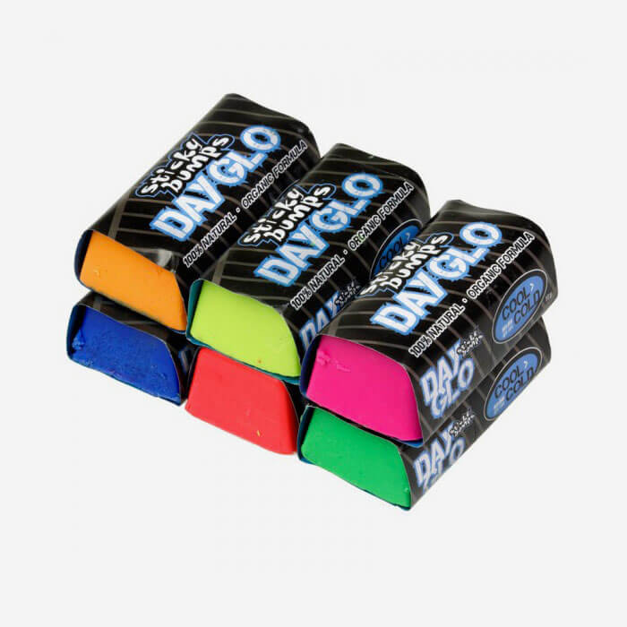 Sticky Bumps Day-Glo cool / cold surf wax (bit)