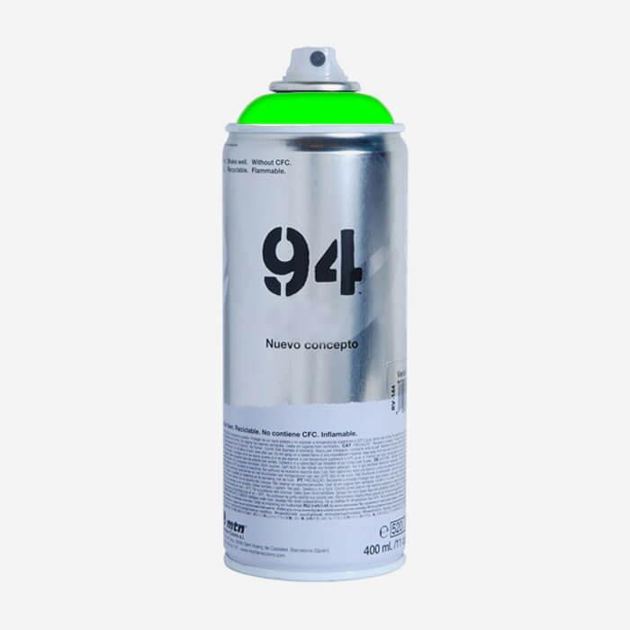 Bombe De Peinture Montana Mtn   Vert Fluorescent Bombes De
