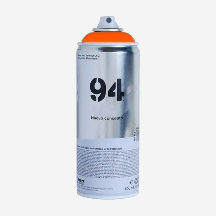 bombe de peinture montana mtn 94 orange fluorescent bombes de peintures montana pour planches. Black Bedroom Furniture Sets. Home Design Ideas