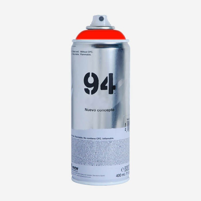Montana 94 Fluorescent Red Spray Paint Montana Paints For Surfboards Viral Surf For Shapers
