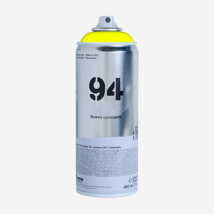 Bombe De Peinture Montana Mtn 94 Jaune Fluorescent Bombes De