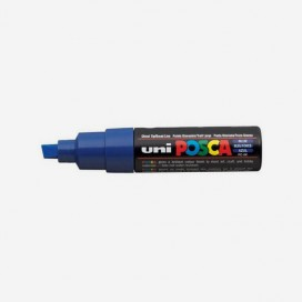 BLUE POSCA PAINT MARKER (8mm wide chisel tip)
