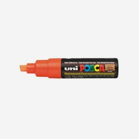 FLUORESCENT ORANGE POSCA PAINT MARKER (8mm wide chisel tip)