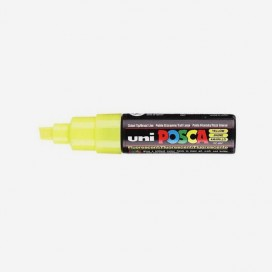 FLUORESCENT YELLOW POSCA PAINT MARKER (8mm wide chisel tip)