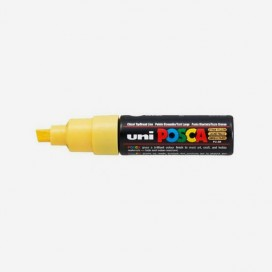 STRAW YELLOW POSCA PAINT MARKER (8mm wide chisel tip)