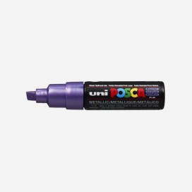 METALLIC VIOLET POSCA PAINT MARKER (8mm wide chisel tip)