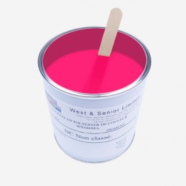 Pigment couleur rose fluorescent - 500 gr, WEST & SENIOR
