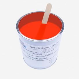 Pigment couleur rouge fluorescent - 500 gr, WEST & SENIOR