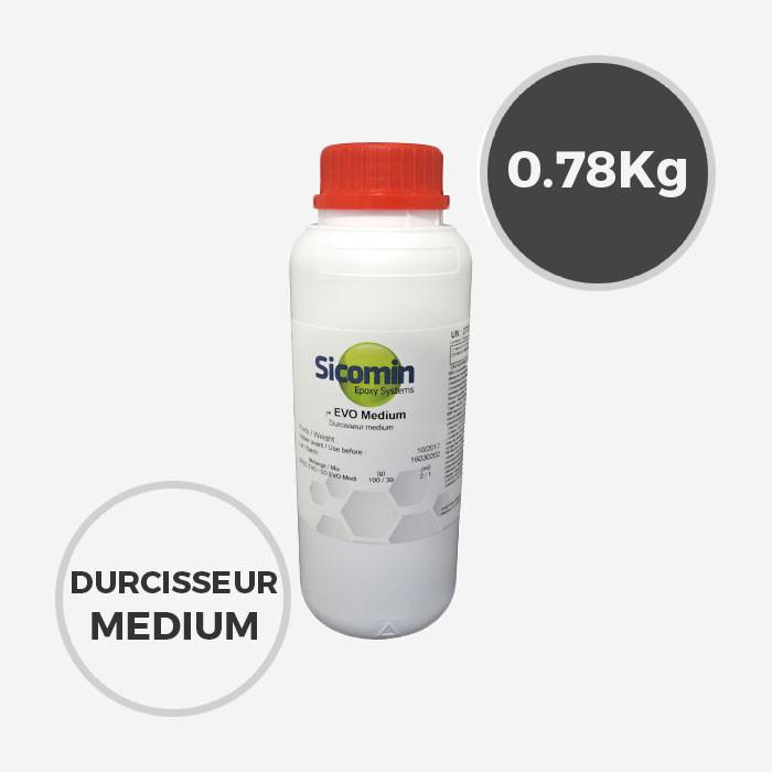 0,78 kg de durcisseur epoxy SD Surf Clear MEDIUM EVO, SICOMIN