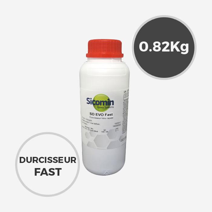 0,82 kg de durcisseur epoxy SD Surf Clear FAST EVO, SICOMIN