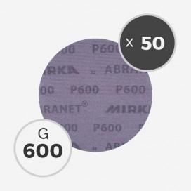 Boite de 50 disques abrasifs Abranet diamètre 150mm - grain 600, MIRKA