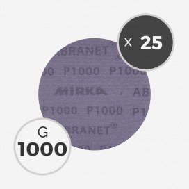 25 disques abrasifs Abranet diamètre 150mm - grain 1000, MIRKA
