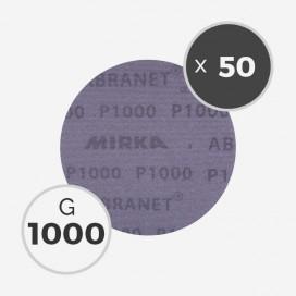 Boite de 50 disques abrasifs Abranet diamètre 150mm - grain 1000, MIRKA