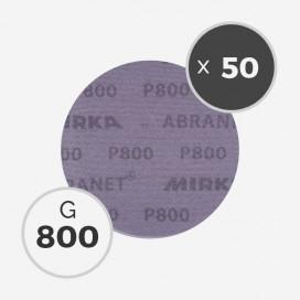 Boite de 50 disques abrasifs Abranet diamètre 150mm - grain 800, MIRKA