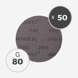 Boite de 50 disques abrasifs Abranet diamètre 150mm - grain 80, MIRKA