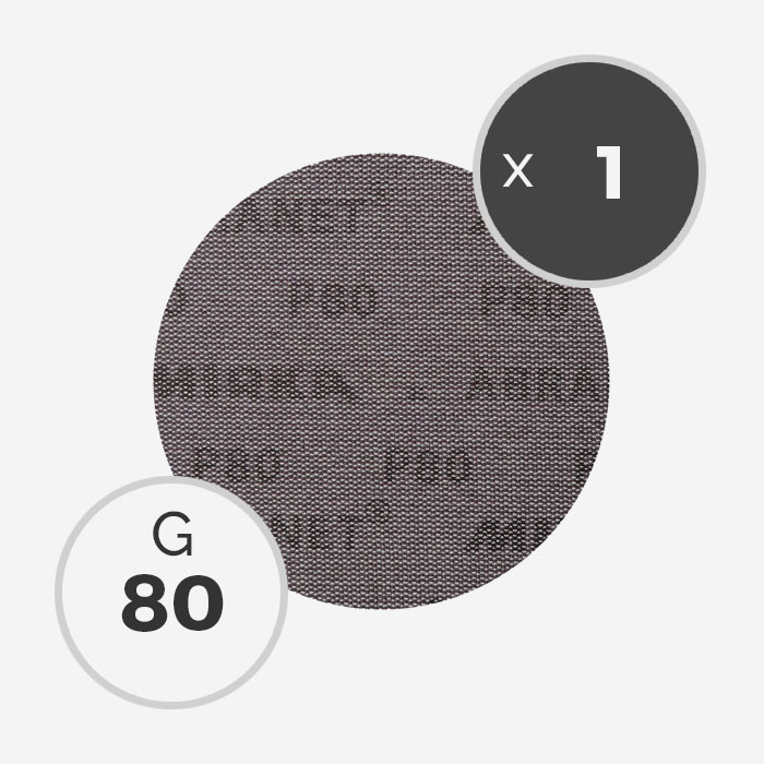 Disque abrasif Abranet diamètre 150mm - grain 80, MIRKA