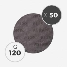 Boite de 50 disques abrasifs Abranet diamètre 150mm - grain 120, MIRKA